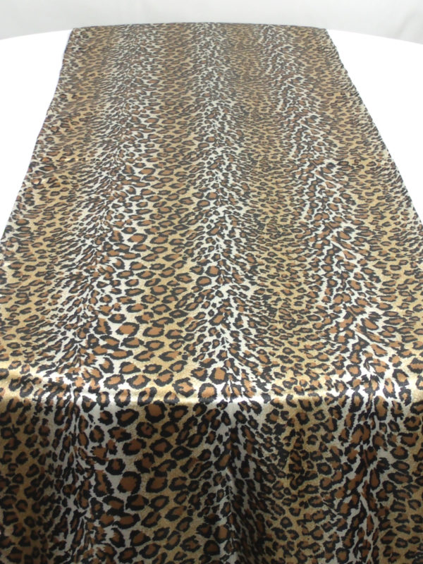 Leopard Table Runner-Linen Rentals Houston