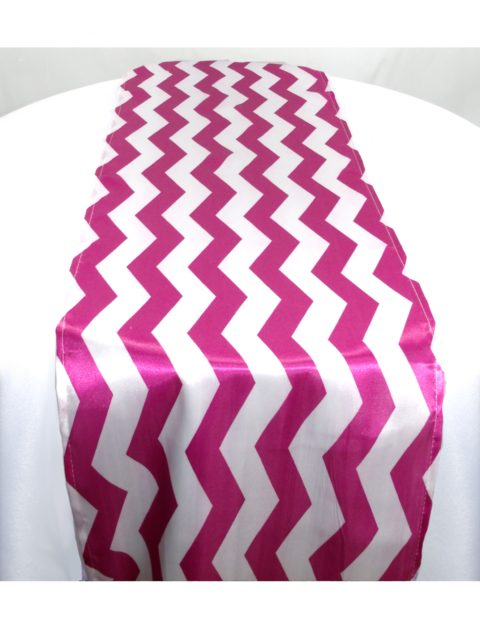 Magenta Chevron Table Runner-Linen Rentals Houston tx