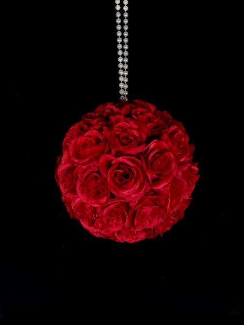 Red Pomander Kissing Balls-Event Rentals Houston