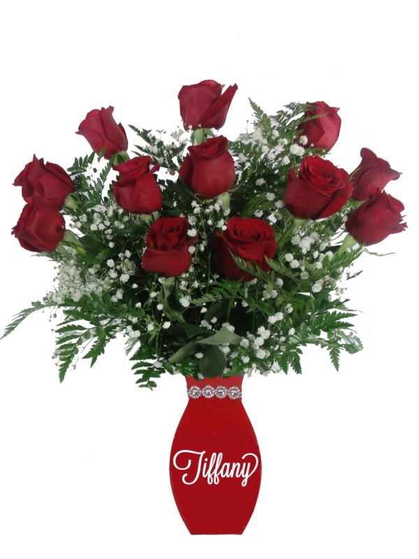 Love Letters Red roses-Array of Gifts Flowers Monogram Houston Pearland