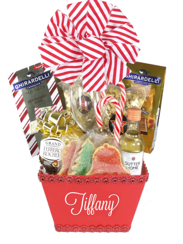 Peppermint-Array of Gifts Christmas Gift Basket Houston Tx