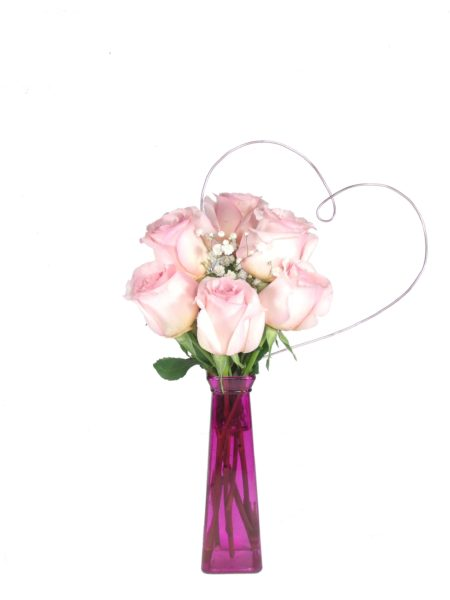 Heart to Heart Light Pink Roses-Array of Gifts Valentine Day Flowers Houston Pearland Delivery