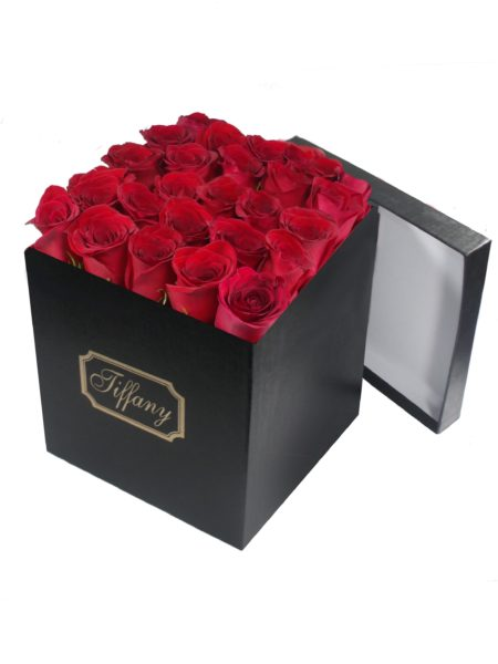 Black Box Red Roses-Array of Gifts Valentine Just Because Flower Gift Box Houston Tx