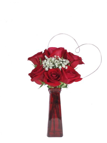 Heart to Heart Red Roses-Array of Gifts Valentine Day Flowers Houston Pearland Delivery
