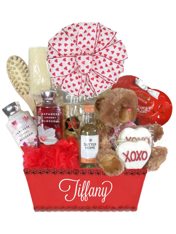 Valentines day gift baskets product categories array of gifts red valentine gift basket for her array of gifts houston delivery negle Images