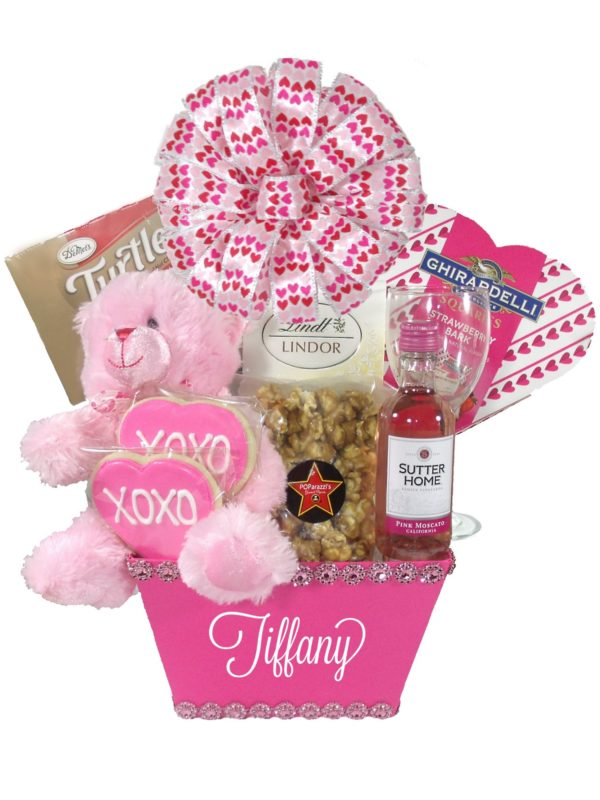 Small Pink Valentine Gift Basket Houston Pearland Houston Array of Gifts
