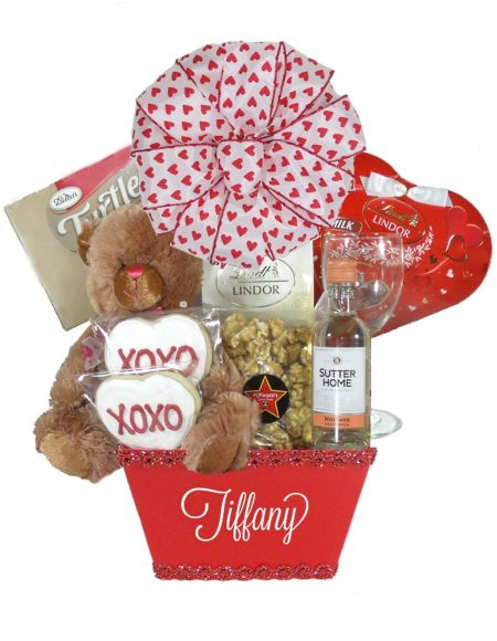 Small Red Valentine Gift Basket Houston Pearland Houston Array of Gifts