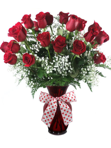 True Love Red Roses-Houston Pearland Florist Valentine Flowers Delivery