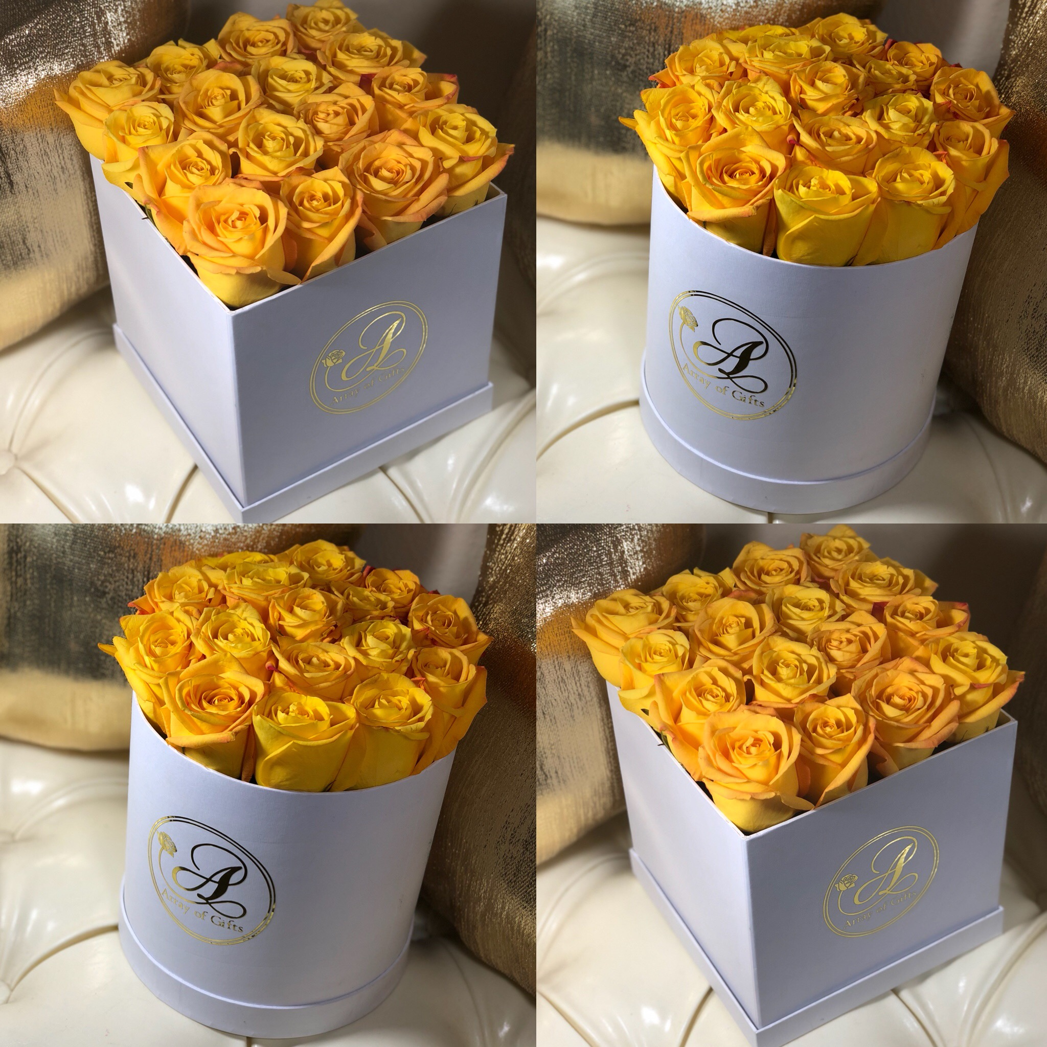 Luxury Flower Gift Boxes Array Of Gifts